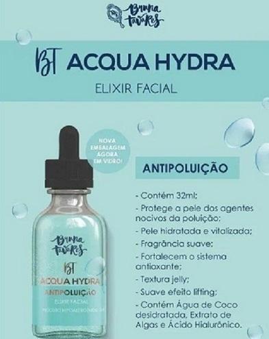 BT Elixir Facial Facial Acqua Hydra - Bruna Tavares