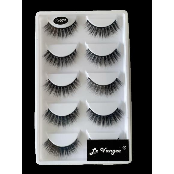 Caixa 5 Pares De Cílios Postiços Premium #G018 - Le Vangee