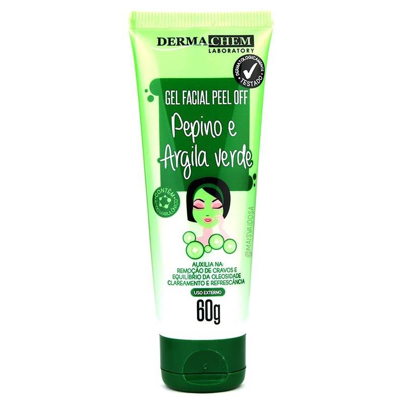Gel Facil Peel Off Pepino e Argila Verde 60G 6g- Derma Chem Laboratory