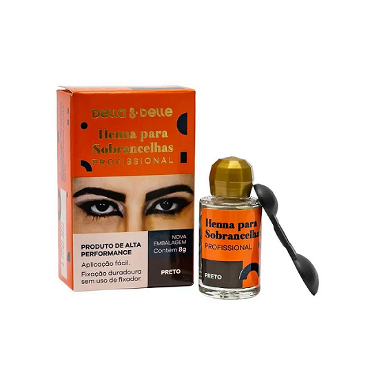 Henna Para Sobrancelhas 8g- Della Delle