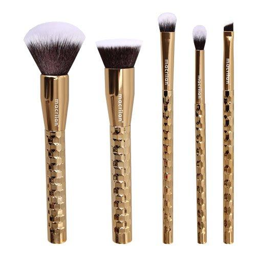 Kit Gold Com 5 Pincéis Profissionais Para Maquiagem- Macrilan