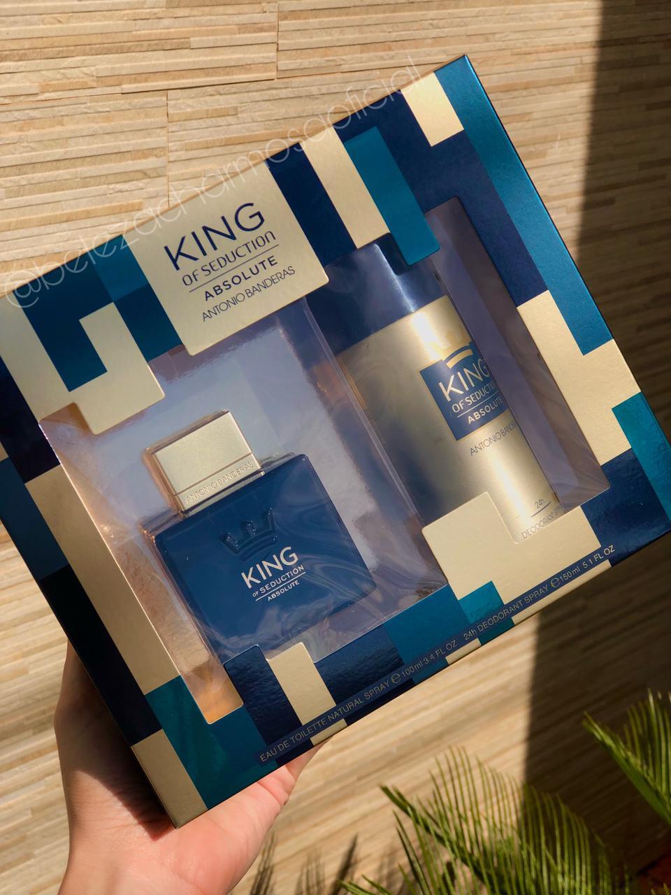 Kit King Of Seduction Absolute - Antonio Banderas 100ml Perfume Masculino + Desodorante 150ml