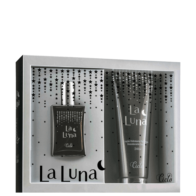 Kit La Luna-Ciclo Perfume Feminino 50ml +Loção Hidratante 240ml Deo Colônia