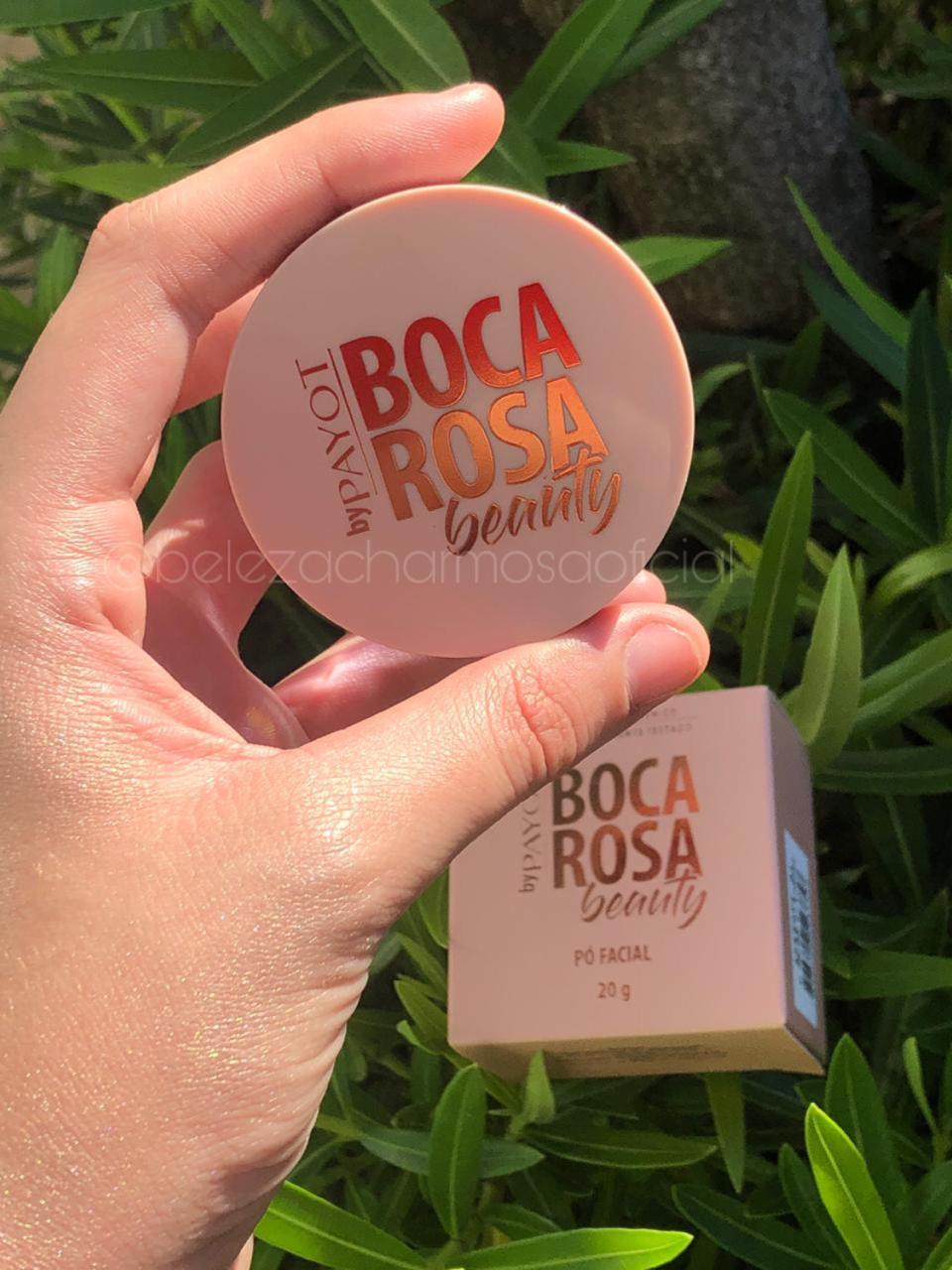 Kit Pele Boca Rosa Base Mate + Corretivo + Pó Solto + Paleta iluminador OMG