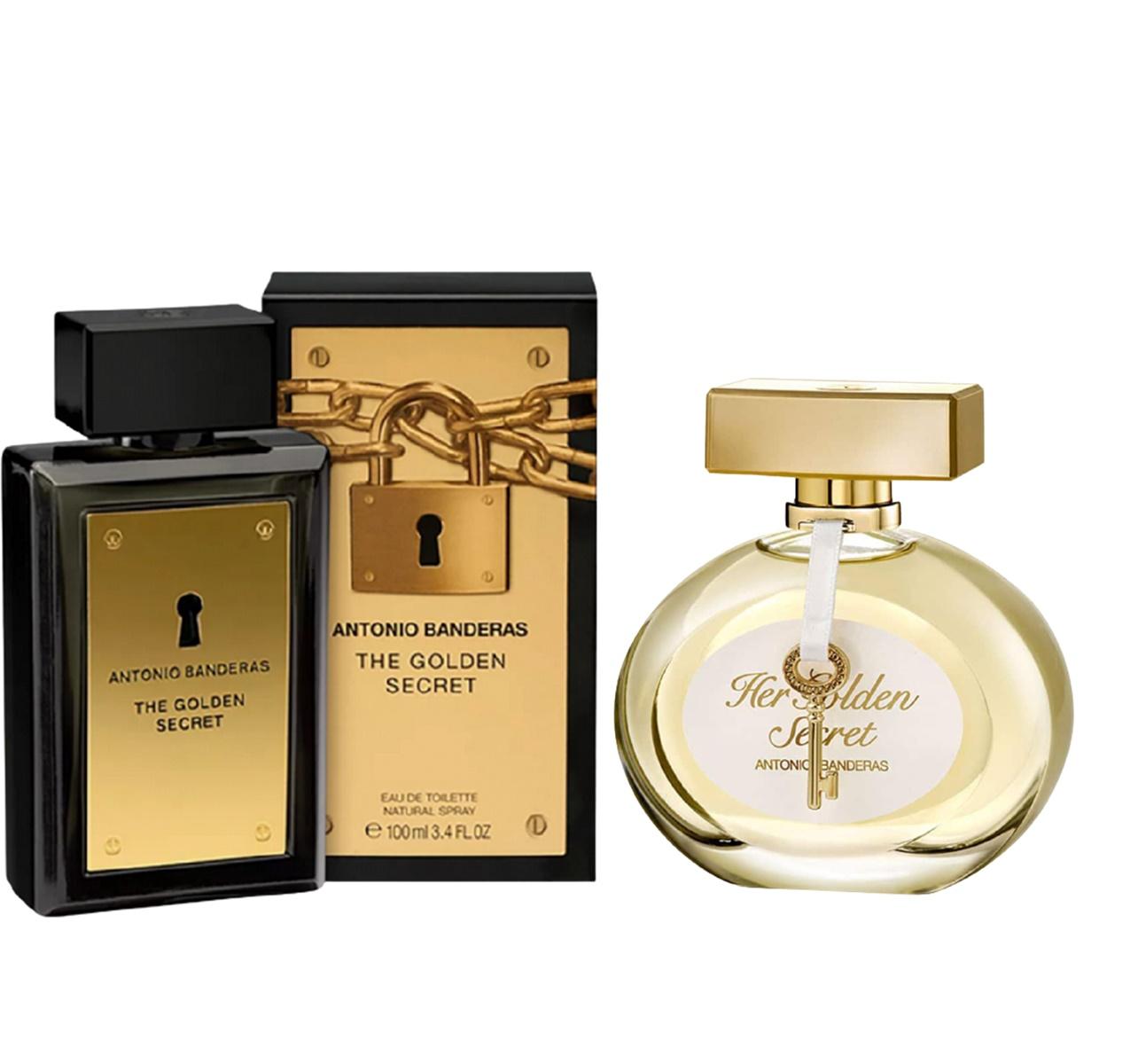Kit Perfume Feminino Her Golden Secret 50ml+Perfume Masculino The Golden Secret 50ml Antonio Banderas