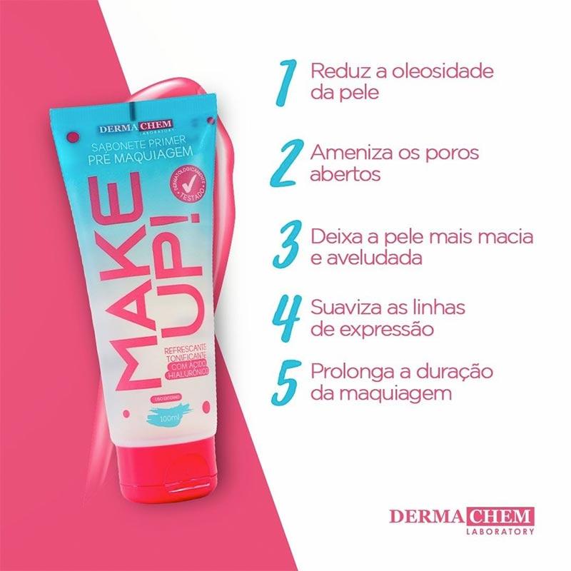 Kit Pré E Pós Make Dermachem Sabonete + Hidratante