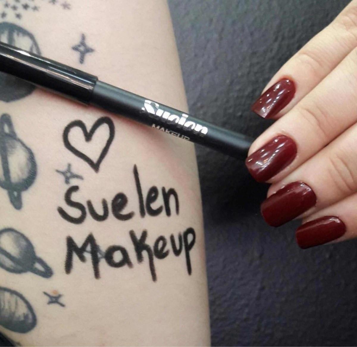 Lápis Delineador Para Olhos Super Preto À Prova D'água - Suelen Makeup