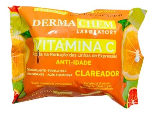 Lenço Demaquilante Vitamina C Anti-idade -Dermachem