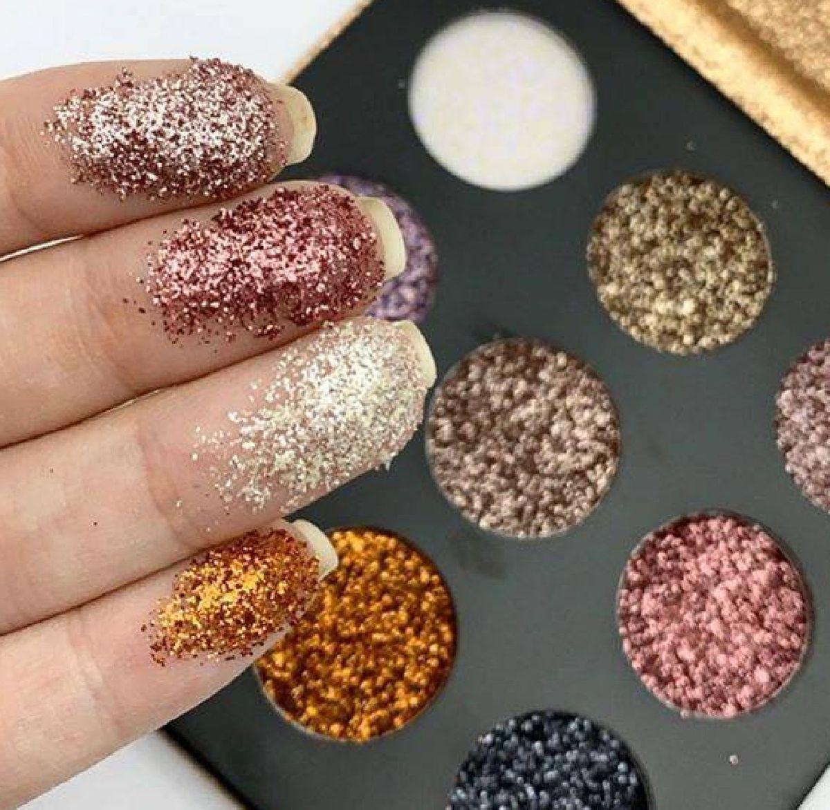 Paleta De sombra Shine Glitter Cremosa - Ruby Rose