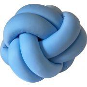 Almofada Escandinava Nó Azul Claro