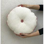 Almofada Redonda Off White/ Rosa