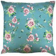 Capa de Almofada Flores Azul Turquesa