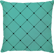 Capa de Almofada Capitone Azul Turquesa