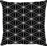 Capa de Almofada Estrela Preto