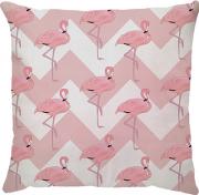 Capa de Almofada Chevron Flamingo Rosa