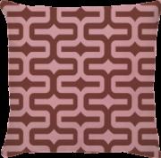 Capa de Almofada IPA Rosa Marrom
