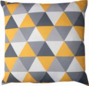 Capa Angra Premium Triângulos Amarelo Cinza