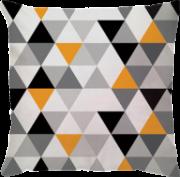 Capa Angra Premium Triângulos Amarelo Preto