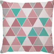 Capa Angra Premium Triângulos Turquesa/Rosa
