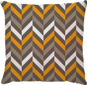 Capa de Almofada Filetes Amarelo Bege