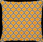 Capa Athenas Treliça Amarela/Cinza