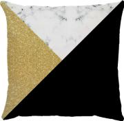 Capa de Almofada Dourado Preto