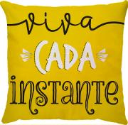 Capa de Almofada Frase Viva Cada Instante 45x45