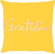 Capa de Almofada Gratidão Amarelo
