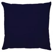 Capa de Almofada Lisa Veludo Azul Marinho