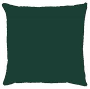 Capa de Almofada Lisa Veludo Verde Escuro