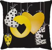 Capa de Almofada Love Balão Amarelo 45x45
