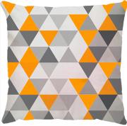 Capa de Almofada Triangulos Amarelo Cinza
