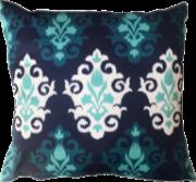 Capa de Almofada Arabesco Tons de Azul