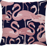 Capa Flamingo Azul Marinho Rosa