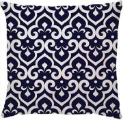 Capa de Almofada Flor de Lis Azul Marinho