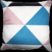 Capa de Almofada Triângulos Azul Rosa