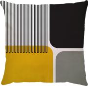 Capa Geométrico Cinza Amarelo