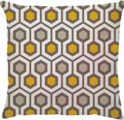 Capa de Almofada Hexagono Bege Amarelo