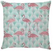 Capa de Almofada  Leques Flamingo Turquesa Rosa
