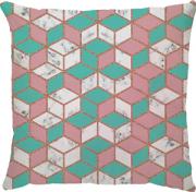 Capa Marble Cubo Rosa/ Turquesa