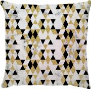 Capa de Almofada Mini Delta Dourado Preto