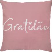 Capa de Almofada Gratidão Rosa