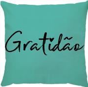 Capa Personalizada Gratidão Turquesa