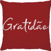 Capa de Almofada Gratidão Vermelho