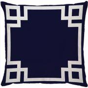 Capa de Almofada Frame Azul Marinho Branco