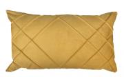 Capa de Almofada Drapeada Retangular Suede Amarelo