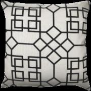 Capa Rústica Geométrica Bege/Preto