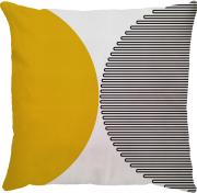Capa Semi Circulo Amarelo Preto