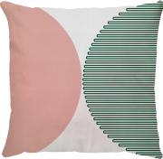Capa Semi Circulo Verde Musgo Rosa