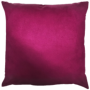 Capa de Almofada Lisa Camurça Pink